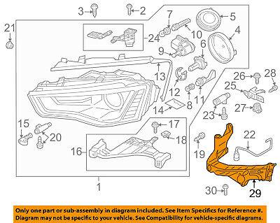 AUDI OEM A5 Quattro Headlight Head Light Lamp-Mount Bracket Right 8T0805608D