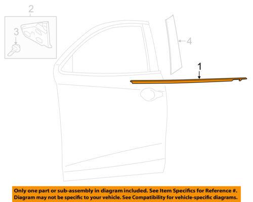 TOYOTA OEM-Door Window Sweep-Belt Molding Weatherstrip Left 75720WB002