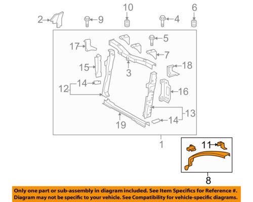 Scion TOYOTA OEM 2016 iM Radiator Core Support-Upper Left 5310812040
