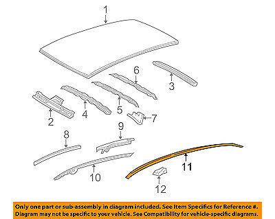 TOYOTA OEM 07-11 Yaris Roof-Drip Molding Right 7555152160