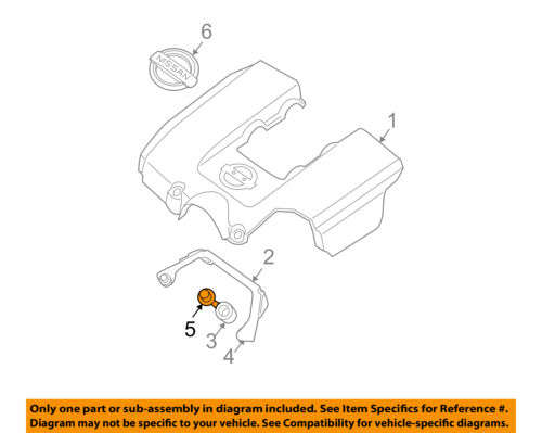 details about nissan oem engine appearance cover engine cover bolt 081466202h  nissan frontier engine diagram turbocharge #7