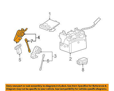 GM OEM Ride Control-Rear Leveling Rear Sensor 15128649