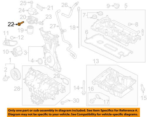 FORD OEM 13-18 Fusion Engine Parts-Adapter Bolt W707144S442 | eBayeBay