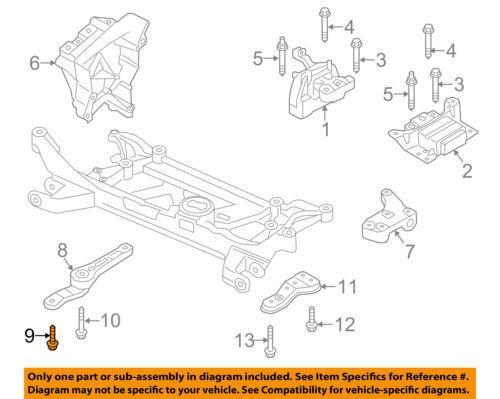 For Audi A3 Left /& Right Transmission /& Rear Engine Motor Mount