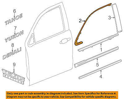 GM OEM Front Door-Upper Molding Trim Right 23173662