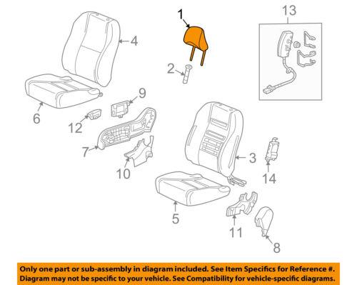 Front Honda Genuine 81140-TM8-A02ZC Headrest Assembly