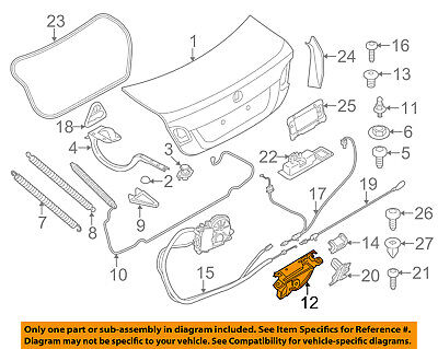 BMW OEM 13-16 M5 Trunk-Lock Actuator Motor 51247269543