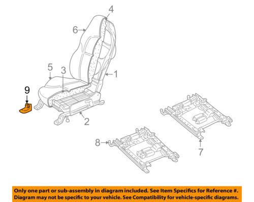 1997-2013 Chevrolet C5 C6 Corvette Genuine GM Seat Track Cover 15864735