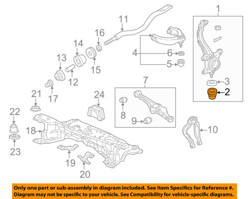 HONDA OEM Rear Suspension-Boot 52454S84A01