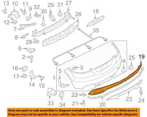 AUDI OEM 12-13 TT Quattro Rear Bumper-Lower Cover 8J0807421R3FZ
