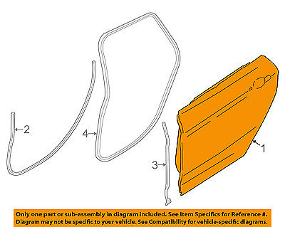 BMW OEM 428i xDrive Gran Coupe Rear Door-Shell Frame Panel Right 41007347716