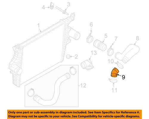 FORD OEM 03-04 F-250 Super Duty 6.0L-V8 Intercooler-Inlet Tube 6C3Z6C640C