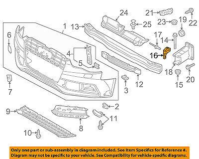 AUDI OEM 13-16 A5 Quattro Front Bumper Grille-Support 8K0807333B