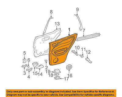 MERCEDES OEM 00-03 ML320-Door Interior Trim Panel Left 16373023709B96