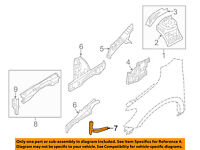 NISSAN OEM-Front Fender Liner Splash Shield Right 638403JA0A