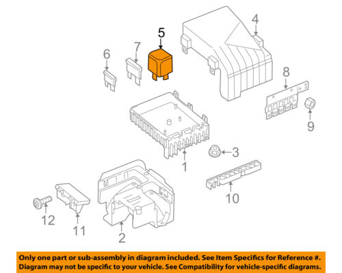 Details About VW VOLKSWAGEN OEM 09 16 Touareg 3 0L V6 Fuse Relay Relay 4H0951253