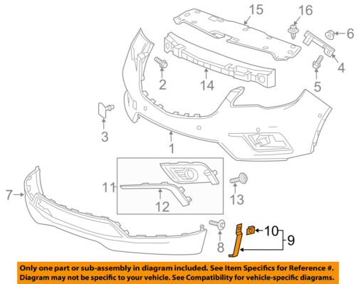 Buick GM OEM 16-18 Envision Front Bumper-Side Bracket Right 22977508