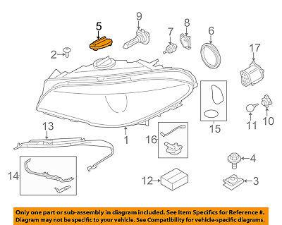 BMW OEM 08-12 X6 Headlamp-Rear Cover 63126931137
