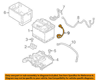 HYUNDAI OEM 2018 Accent 1.6L-L4 Battery-Negative Cable 91860H9220