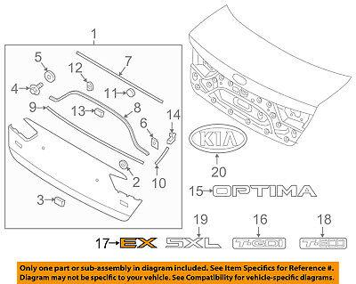 KIA OEM 16-18 Optima Trunk Lid-Emblem Badge Nameplate 86316D4000