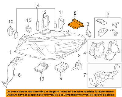 BMW OEM 14-16 535d xDrive Headlight Head light lamp-Control Module 63117440877