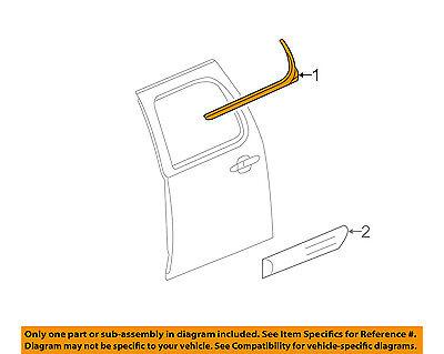 GM OEM Rear Window/Door-Belt Molding Weatherstrip Left 22774086