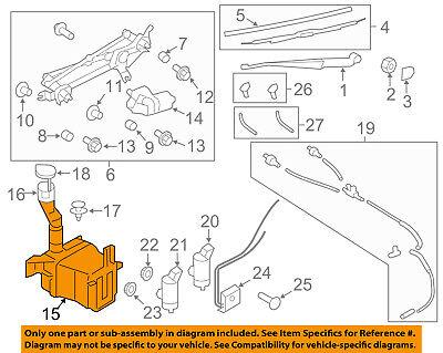 SUBARU OEM 08-14 Impreza Wiper Washer-Windshield Fluid-Reservoir Tank 86631FG010