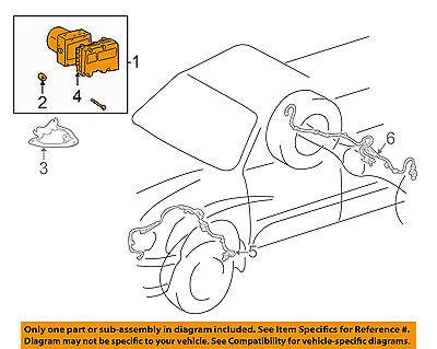 TOYOTA OEM 01-02 Sequoia ABS Anti-lock Brakes-Modulator Valve 440500C060