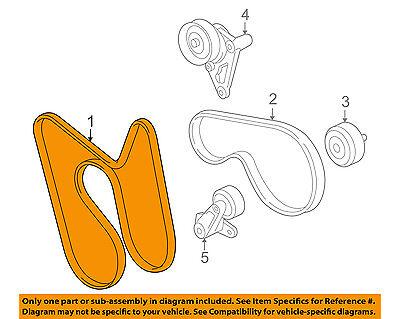GM OEM-Serpentine Drive Fan Belt 12626222