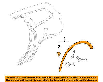 Buick GM OEM 08-16 Enclave Fender-Wheel Flare Molding Left 22785289