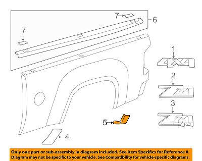 GM OEM Pick Up Box Bed-Stone Deflector Guard Right 25783544