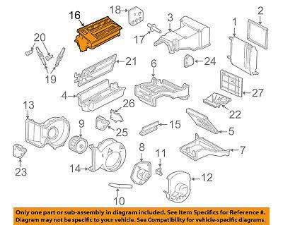 GM OEM Evaporator Heater-Air Distributor 52467204