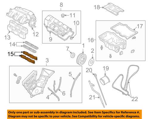 OEM NEW 2003-2006 Genuine Mazda 6 MPV Lower 3.0L Engine Intake Manifold Gasket