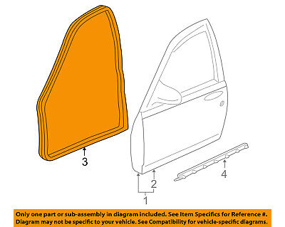 Chevrolet GM OEM 00-05 Impala-Door Weatherstrip Weather Strip Seal 10419497