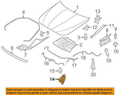 BMW OEM 13-16 M5 Hood-Lock Latch 51237206453