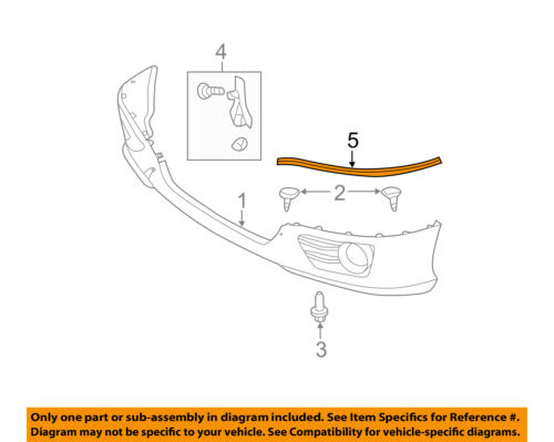 TOYOTA OEM Camry Spoiler-Front Bumper Grille Grill-Protector Right 7687706080C0