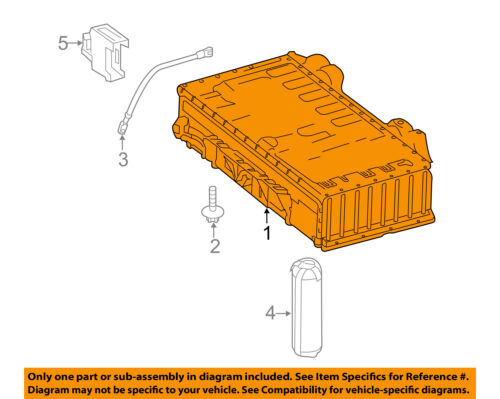 SMART OEM 2016 Fortwo-Battery Assembly 7893400003