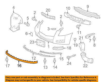 Cadillac GM OEM 08-14 CTS Front Bumper-Spoiler Lip Chin Splitter 15272090