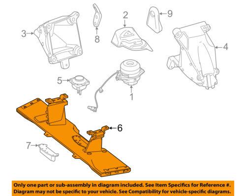 Engine Motor Transmission-Frame Cradle Crossmember 1662400532