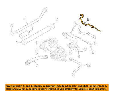 BMW OEM 2004 545i 4.4L-V8 Cooling-Overflow Hose 17127519254