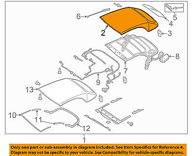 AUDI OEM 15-17 A3 Convertible Top-Cover 8V7871035C2Y5
