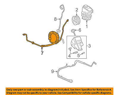 Buick GM OEM 02-07 Rendezvous-Power Steering Pressure Hose 15777621