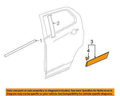 Chevrolet GM OEM Trax Rear Door Body Side-Lower Molding Trim Right 95161598
