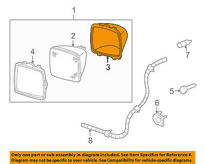 GM OEM Headlight Head Light Lamp-Sealed Beam Mount Ring 5968095