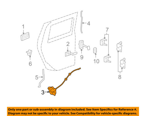 Hummer Gm Oem 03 09 H2 Rear Door Lock Actuator Motor 20785786 Ebay
