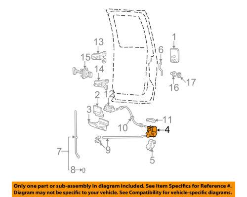 Gordie Boucher Ford >> FORD OEM F-350 Super Duty Rear Door-Lock or Actuator Latch Release 6C3Z2626413A | eBay