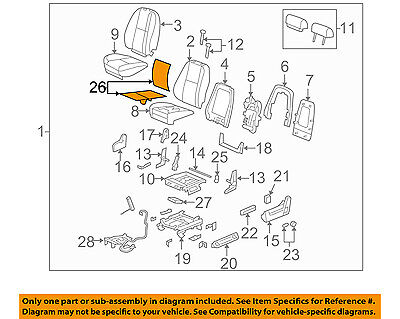 GM OEM Seat Heater-Element 20792749 - Back Cushion (NOT WITH HEAT/COOL SEATS)