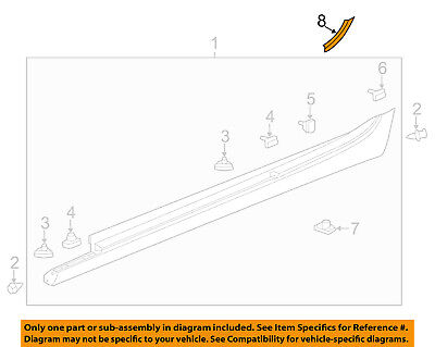 Cadillac GM OEM 13-18 ATS Exterior-Rocker Molding Protector Right 22781524