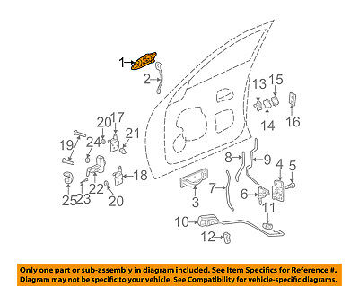 Cadillac GM OEM 00-05 DeVille-Outside Exterior Door Handle Left 20857749