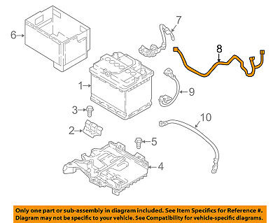 HYUNDAI OEM 2018 Accent 1.6L-L4 Battery-Positive Cable 91850H9030